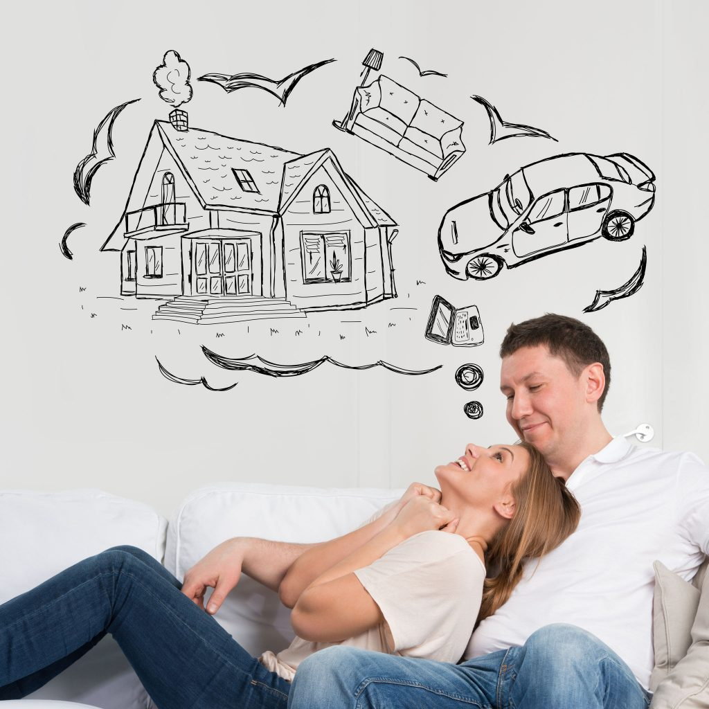 Couple-dreaming-to buy house with 20% deposit