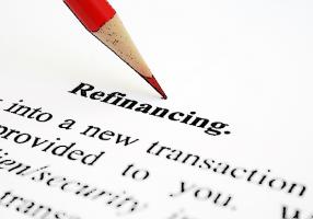 Refinancing-word sketch